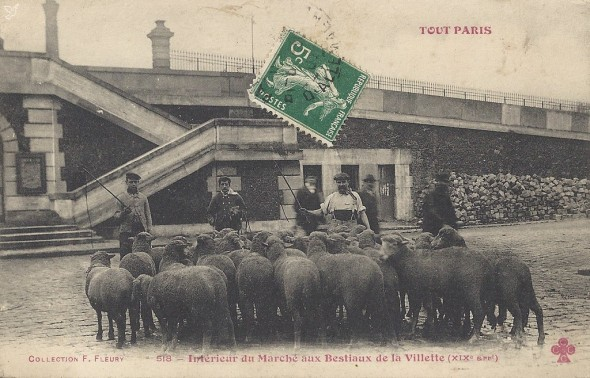 1370253532-carte-postale-paris-Bestiaux-de-la-Villette Michel 55815