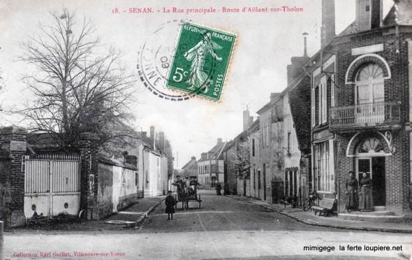 Carte postale ancienne de Senan