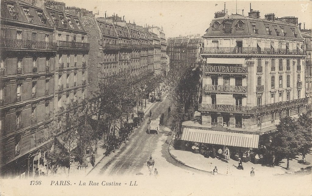 Paris rue custine paris xviiie arr cartes postales - Bureau de change rue montmartre ...