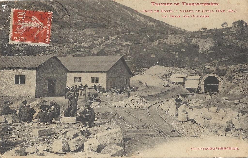 Travaux du transpyrénéen côté Porte.