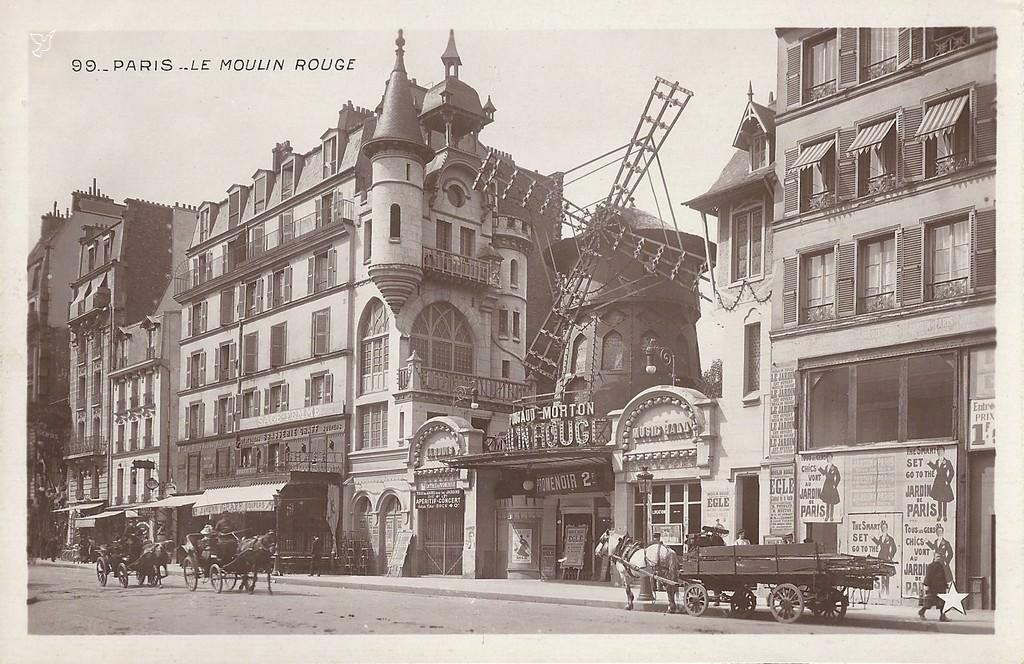 paris moulin rouge paris xviiie arr cartes postales anciennes sur cparama. Black Bedroom Furniture Sets. Home Design Ideas