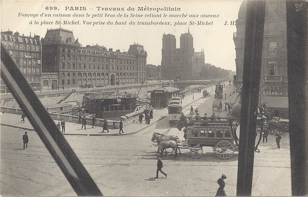 Paris saint michel paris ve arr cartes postales anciennes sur cparama - Marche saint michel paris ...