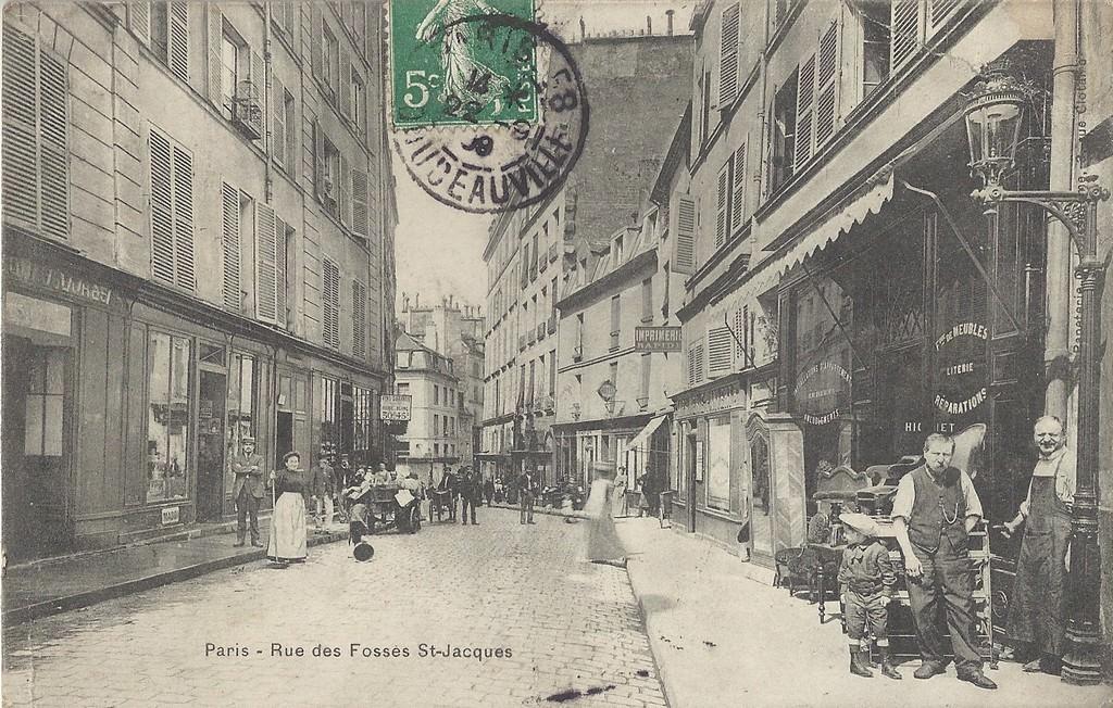 paris rue des foss s saint jacques paris ve arr cartes postales anciennes sur cparama. Black Bedroom Furniture Sets. Home Design Ideas