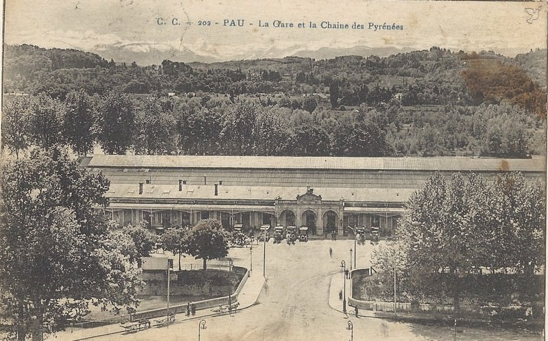 Pau gare pau cartes postales anciennes sur cparama for Photographe clamart gare