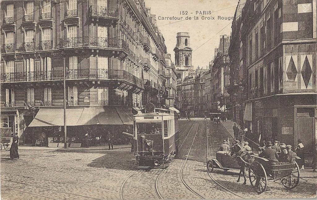 Carrefour de la Croix-Rouge - Paris - Carte postale ancienne