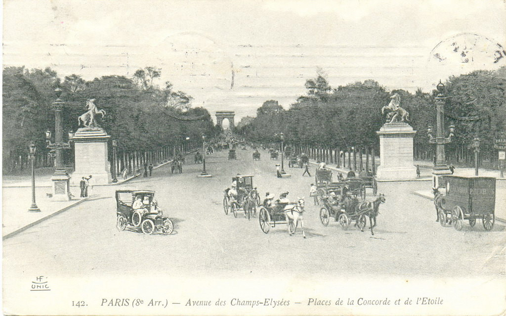 Paris Avenue Des Champs Lys Es Paris Viiie Arr