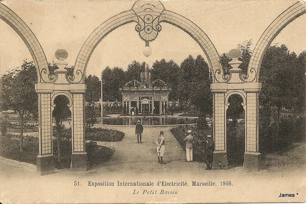 1908 marseille exposition internationale d 39 electricit. Black Bedroom Furniture Sets. Home Design Ideas