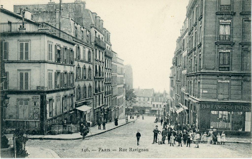 Paris Rue Ravignan Paris Xviiie Arr Cartes Postales