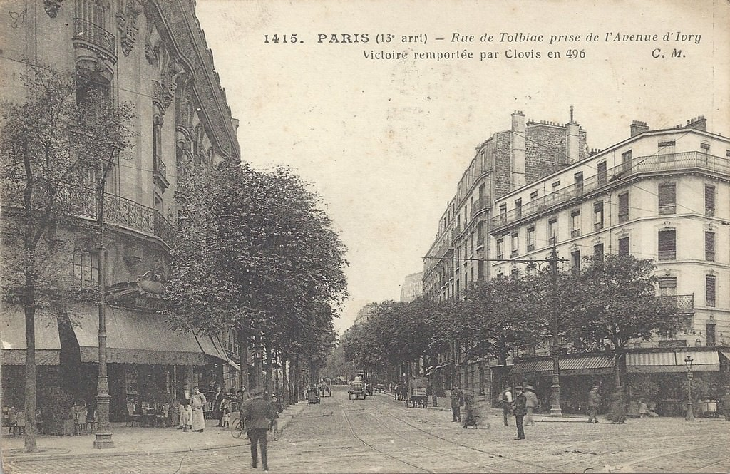 paris rue de tolbiac paris xiiie arr cartes postales anciennes sur cparama. Black Bedroom Furniture Sets. Home Design Ideas