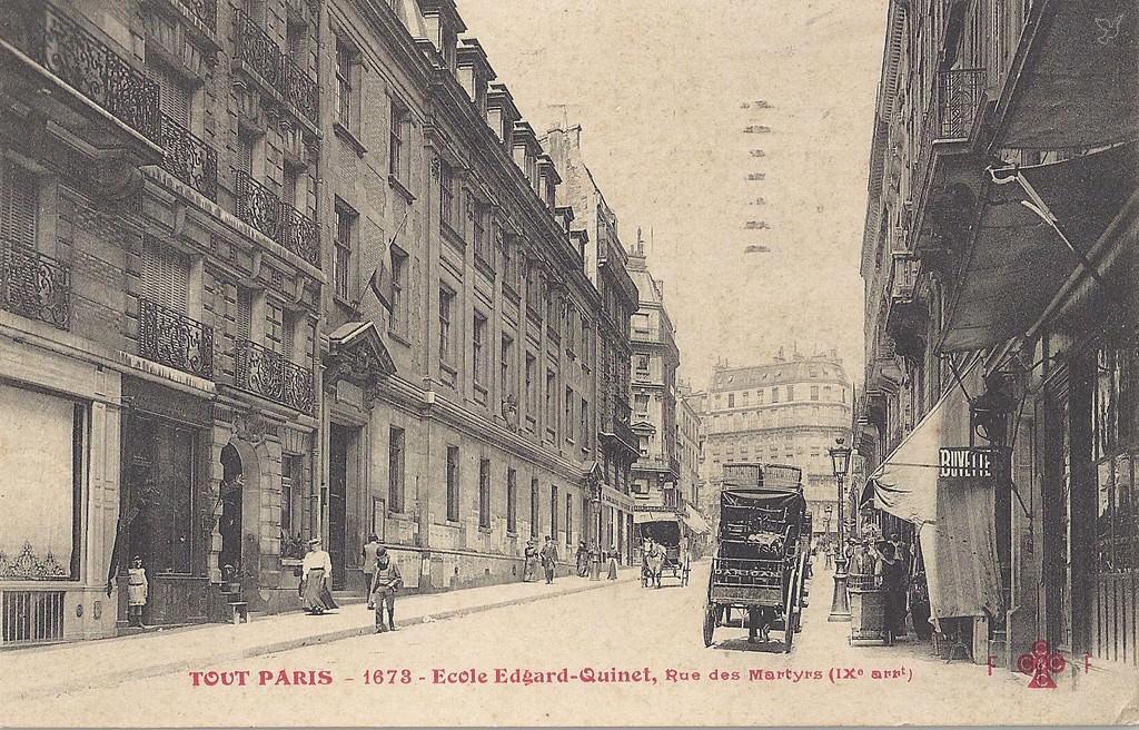 Paris rue des martyrs paris ixe arr cartes postales for Le miroir rue des martyrs