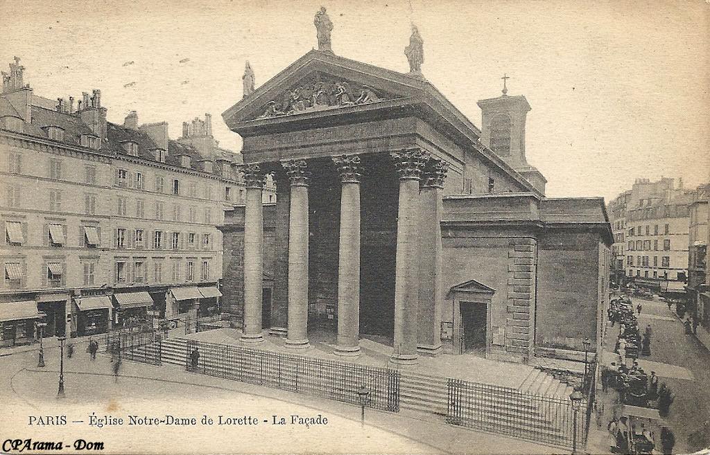 Paris glise notre dame de lorette paris ixe arr - Metro notre dame de lorette ...