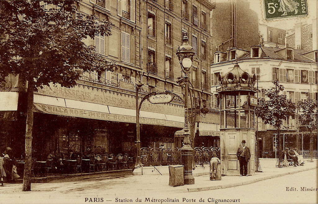 M tropolitain m tro paris 75 paris page 17 cartes postales anciennes sur cparama - Metro porte de clignancourt ...