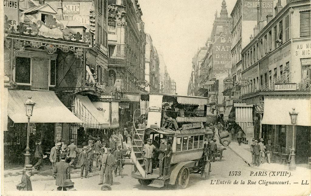 Paris rue de clignancourt paris xviiie arr cartes postales anciennes sur cparama - Bureau de change porte de clignancourt ...