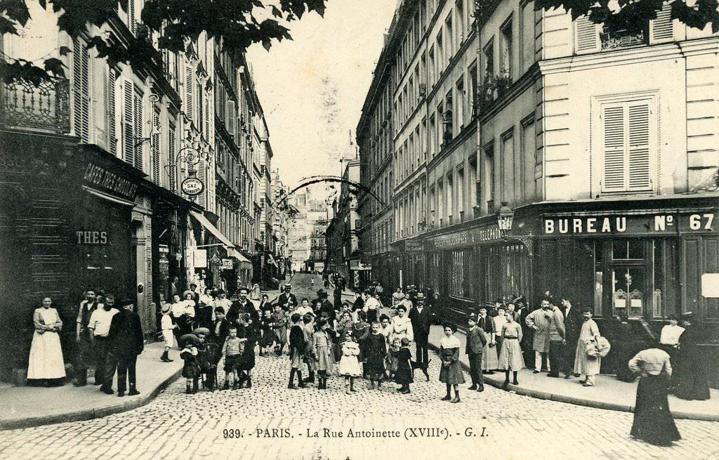 Paris rue antoinette paris xviiie arr cartes for Bureau de poste 13 rue d anjou