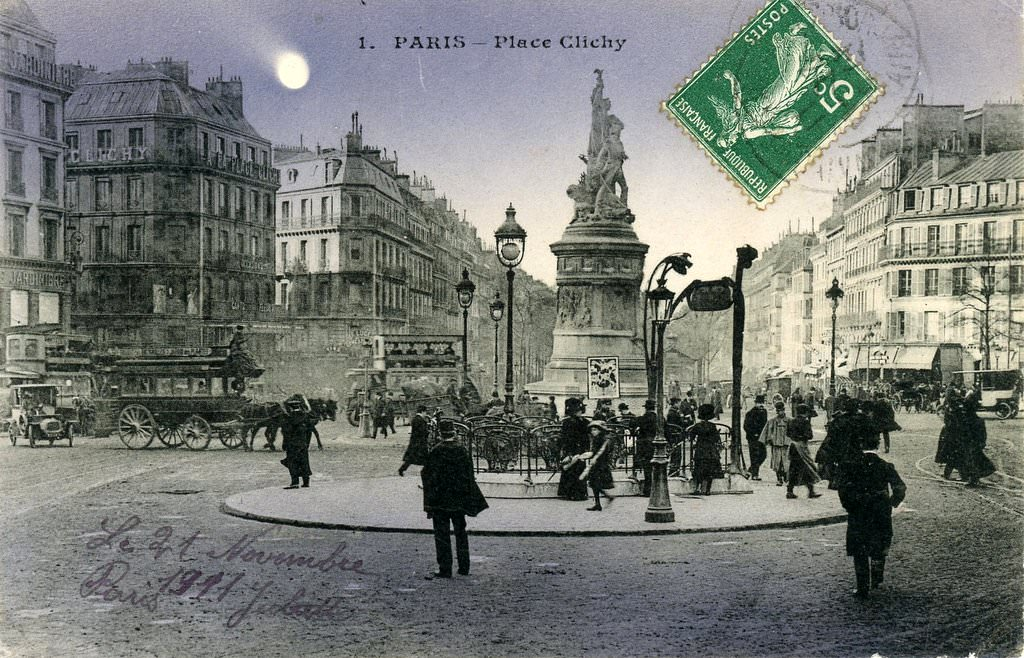 Paris place clichy paris viiie arr page 2 cartes for Place de clichy castorama