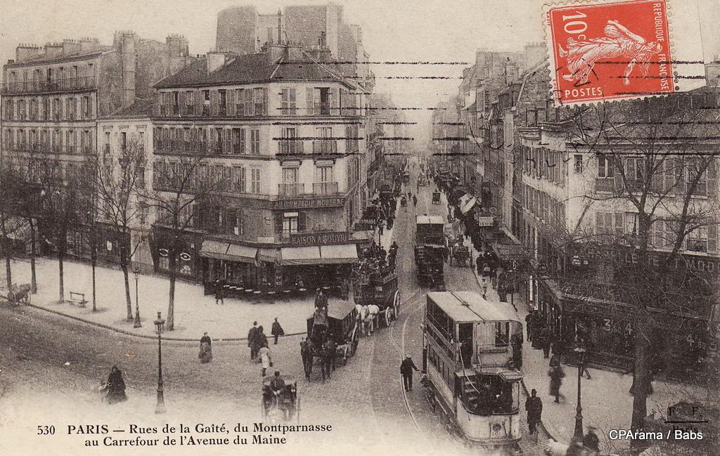 Paris rue de la ga t paris xive arr cartes for Garage avenue du maine