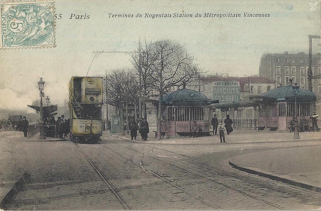 M tropolitain m tro paris 75 paris page 55 cartes postales anciennes sur cparama - Pharmacie de garde porte de vincennes ...