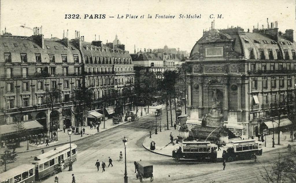 M tropolitain m tro paris 75 paris page 55 cartes postales anciennes sur cparama - Saint michel paris metro ...