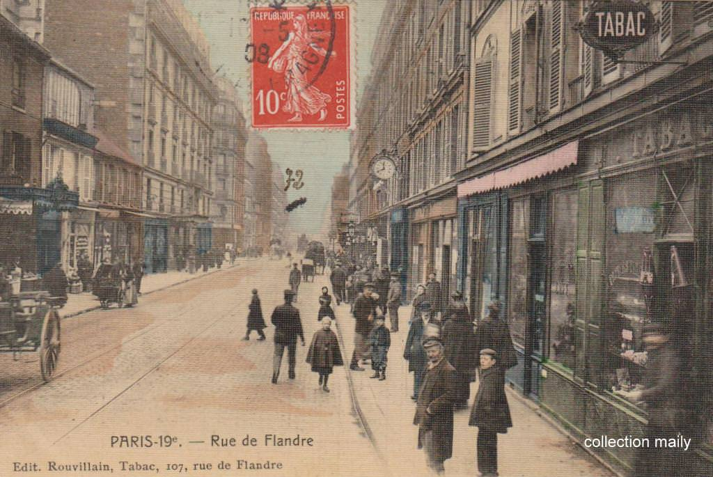Paris rue de flandre paris xixe arr cartes postales for Restaurant laille 35