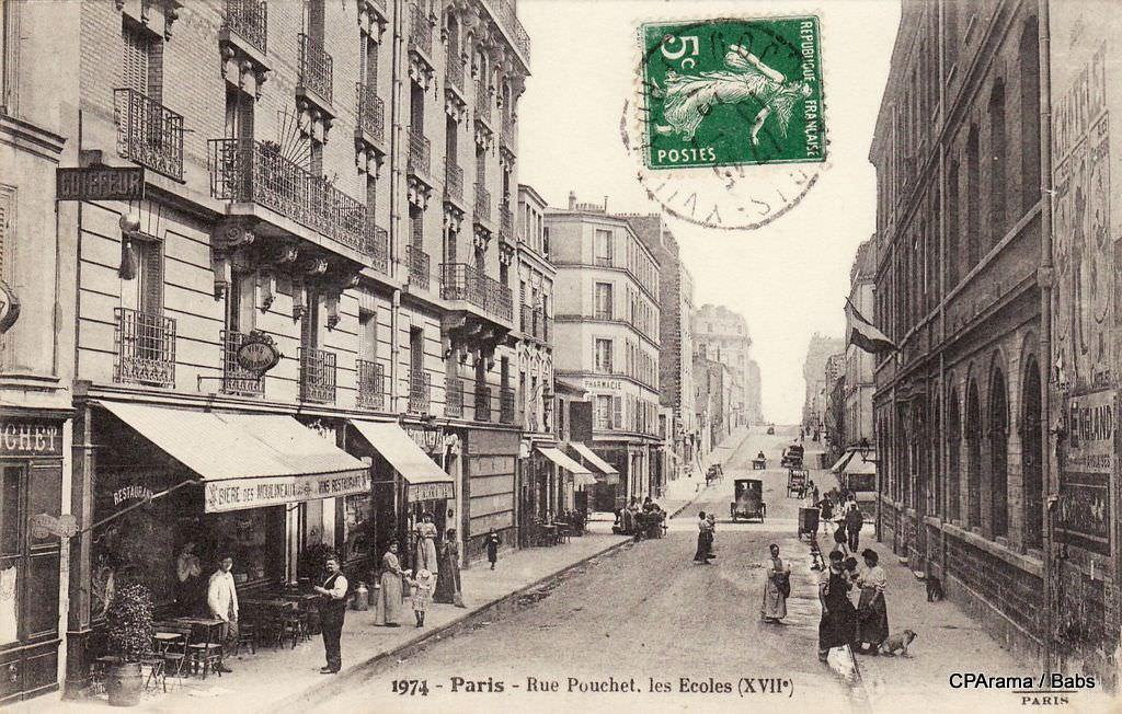 paris rue pouchet paris xviie arr cartes postales anciennes sur cparama. Black Bedroom Furniture Sets. Home Design Ideas