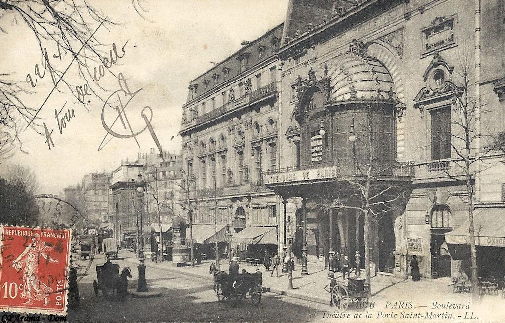 Paris th tre de la porte saint martin paris iiie arr - Theatre de la porte saint martin 75010 paris ...
