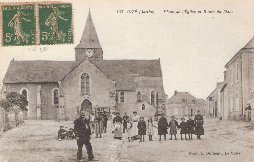 Carte Postale de Oizé (Sarthe)