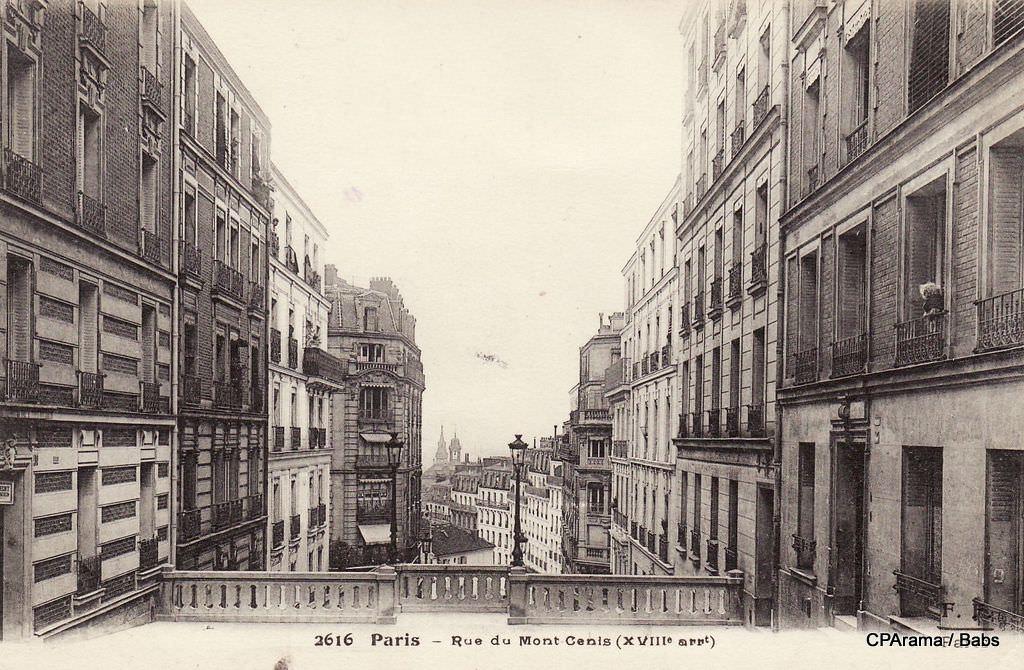 rue du mont cenis xviiie arr cartes postales anciennes sur cparama
