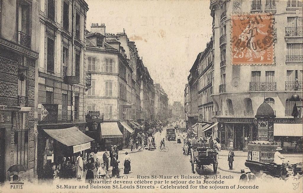 paris rue saint maur paris xe arr cartes postales anciennes sur cparama. Black Bedroom Furniture Sets. Home Design Ideas