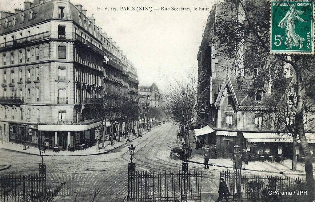 paris rue secr tan paris xixe arr cartes postales anciennes sur cparama. Black Bedroom Furniture Sets. Home Design Ideas
