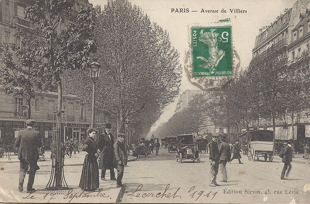 Paris Avenue De Villiers Paris Xviie Arr Cartes