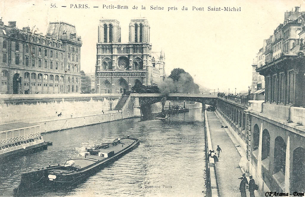 Paris petit pont ponts de paris cartes postales anciennes sur cparama - Marche saint michel paris ...