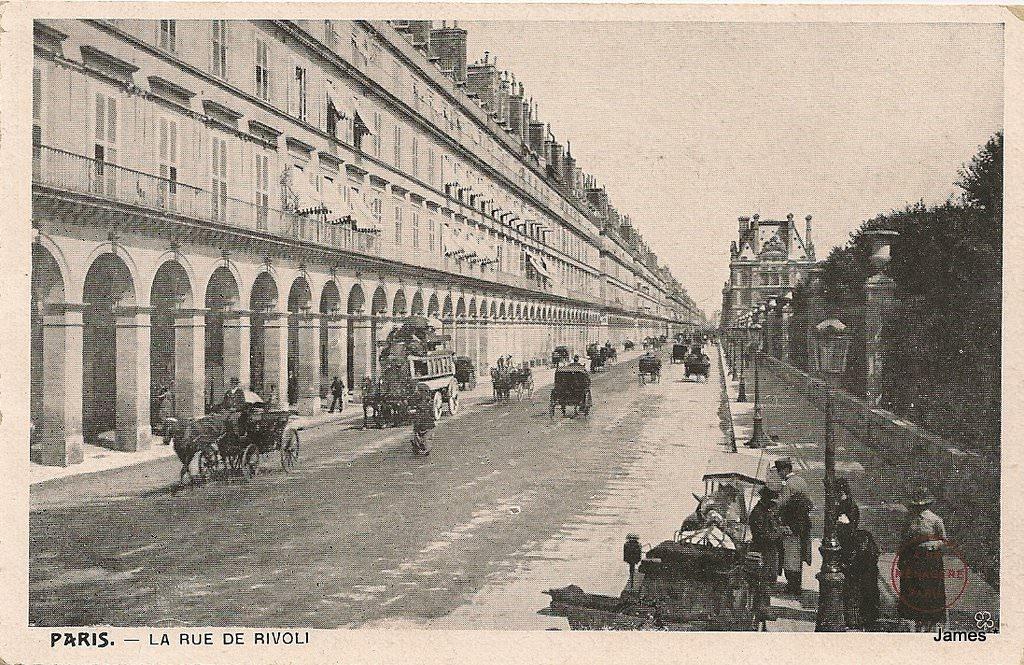 paris rue de rivoli paris ier arr cartes postales anciennes sur cparama. Black Bedroom Furniture Sets. Home Design Ideas