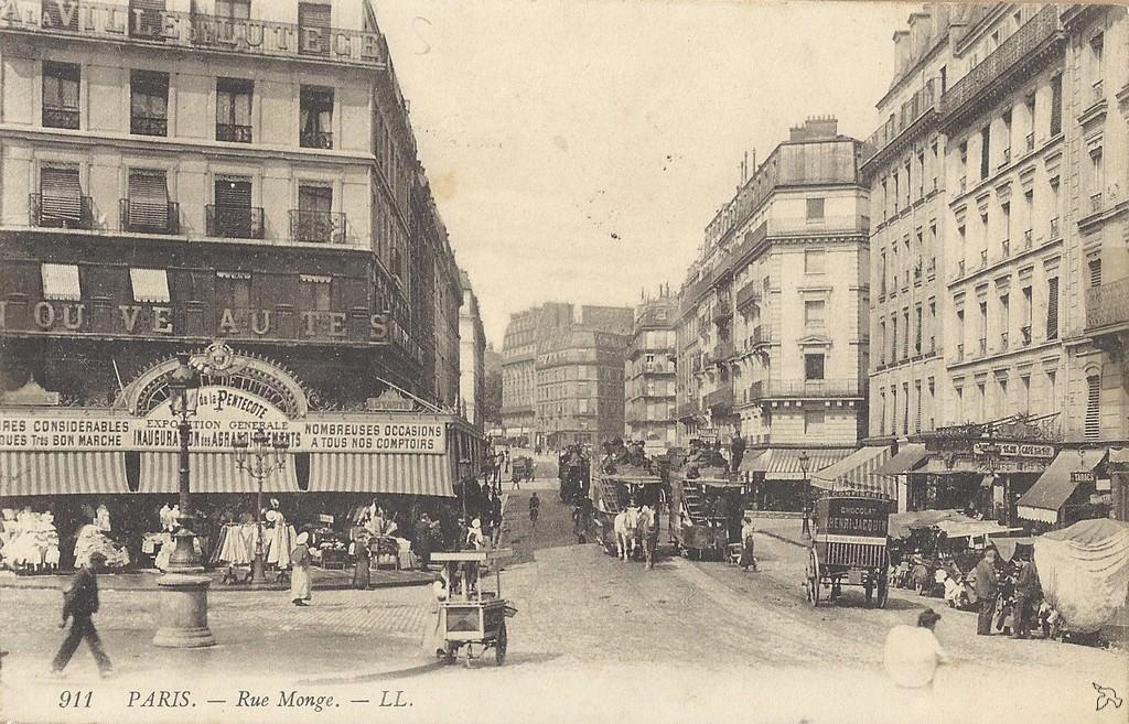 Paris - Rue Monge : Paris Ve arr. | Cartes Postales Anciennes sur CPArama