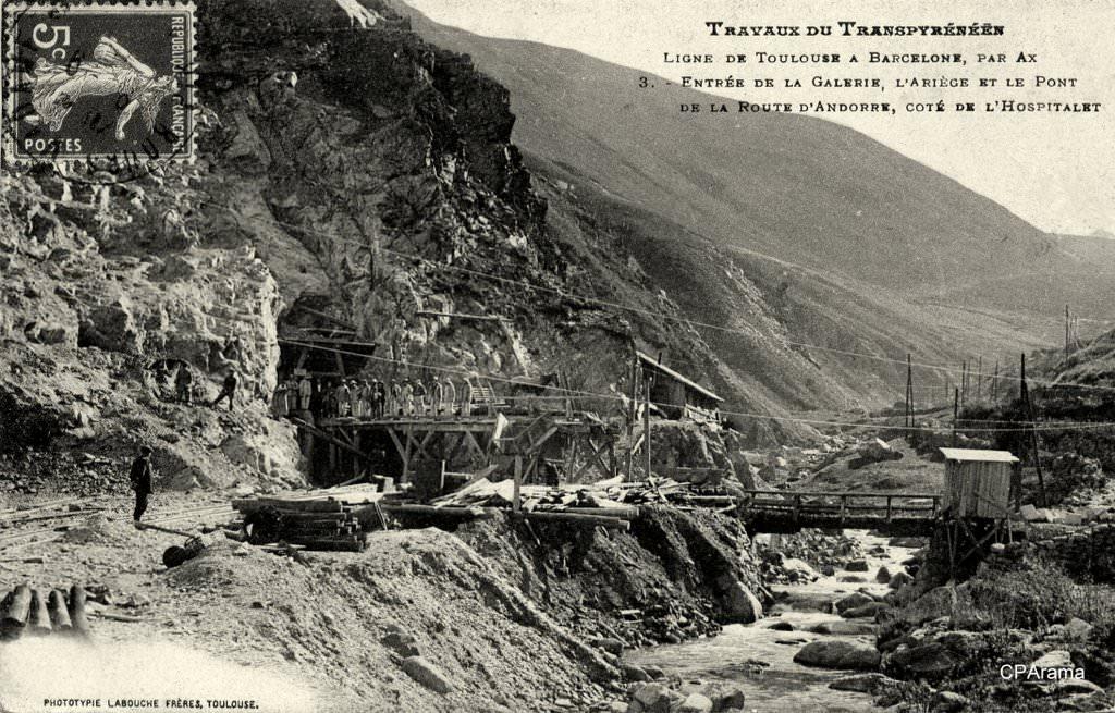l'Hospitalet près d'Andorre (travaux tunnel Puymorens)
