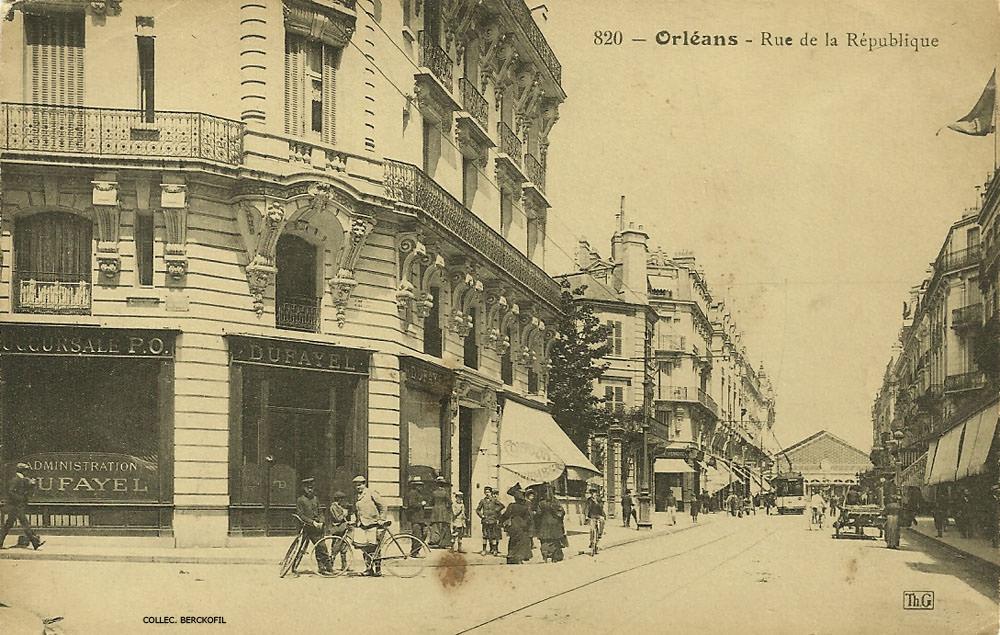 Orl ans rue de la r publique orl ans cartes postales anciennes sur cparama - Galerie le garage orleans ...