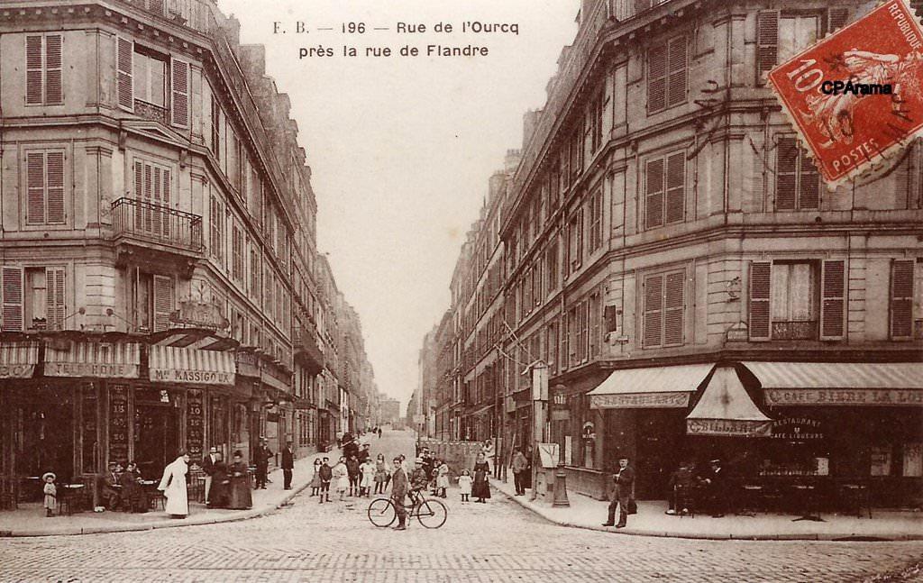paris rue de l 39 ourcq paris xixe arr cartes postales anciennes sur cparama. Black Bedroom Furniture Sets. Home Design Ideas