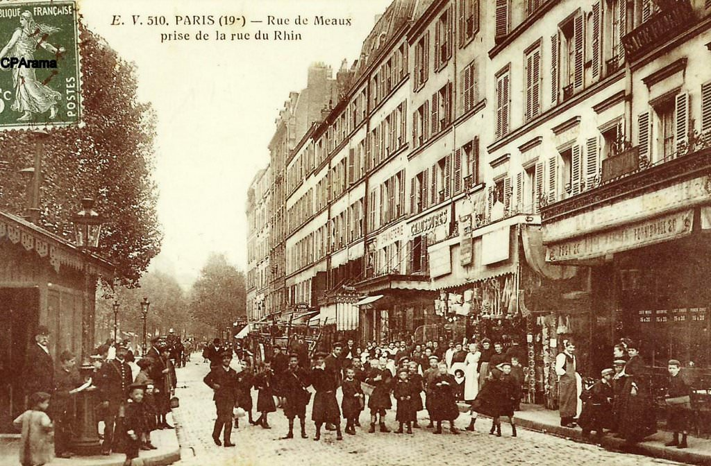 Paris rue de meaux paris xixe arr cartes postales for Garage rue de meaux vaujours