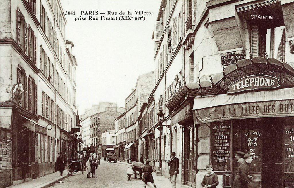paris rue de la villette paris xixe arr cartes postales anciennes sur cparama. Black Bedroom Furniture Sets. Home Design Ideas