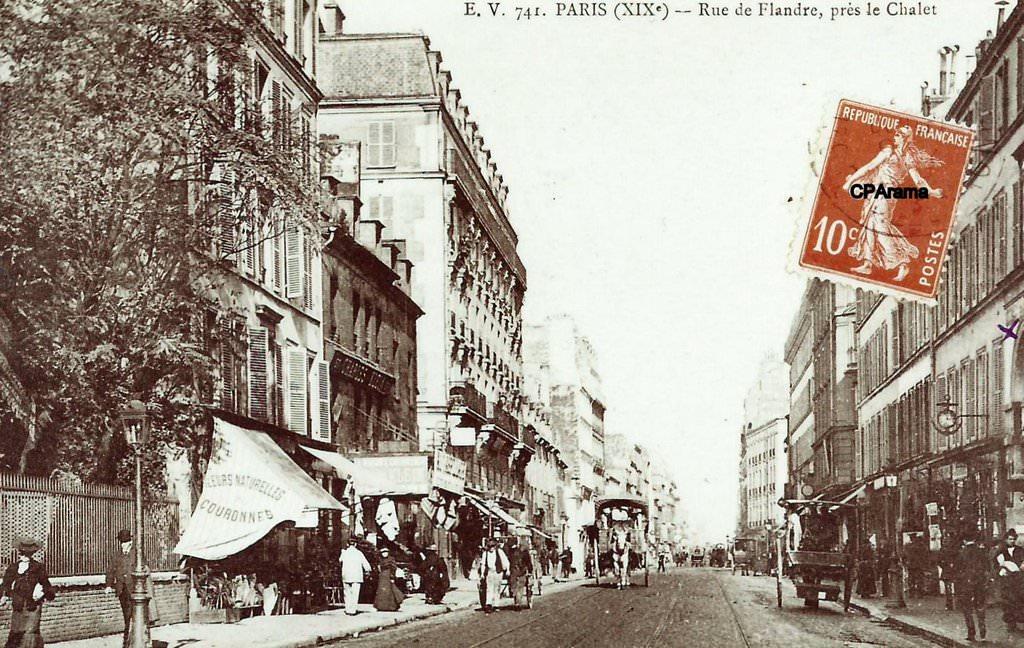 paris rue de flandre paris xixe arr cartes postales anciennes sur cparama. Black Bedroom Furniture Sets. Home Design Ideas