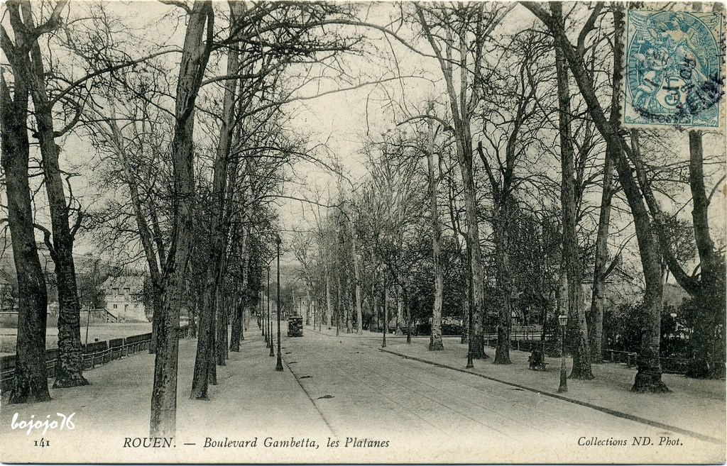 Rouen boulevard gambetta rouen cartes postales anciennes sur cparama - Boulevard gambetta roubaix ...