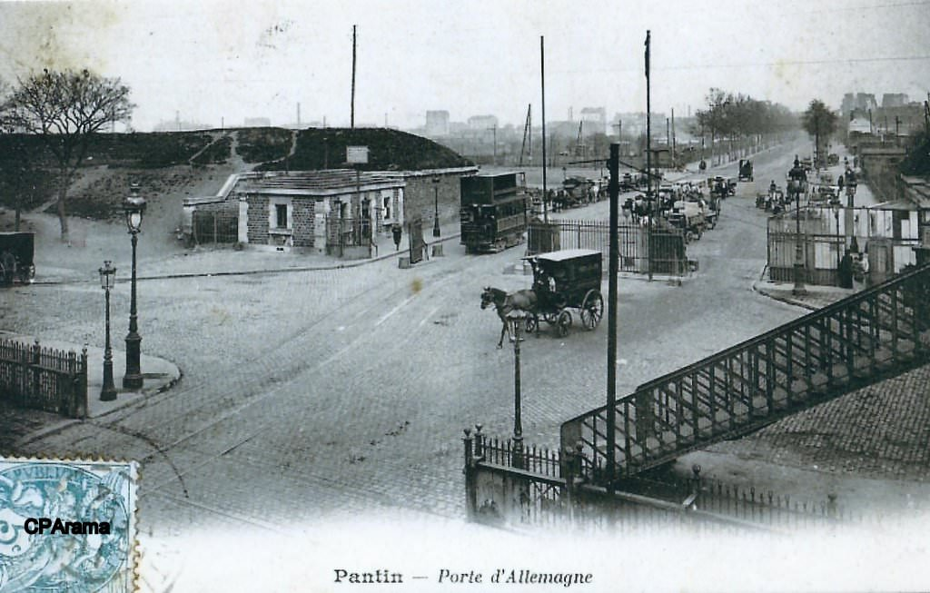 Paris porte d 39 allemagne porte de pantin paris xixe arr cartes postales anciennes sur - Fourriere porte de pantin ...