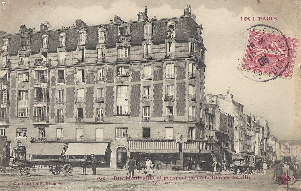 paris rue montgallet paris xiie arr cartes postales anciennes sur cparama. Black Bedroom Furniture Sets. Home Design Ideas