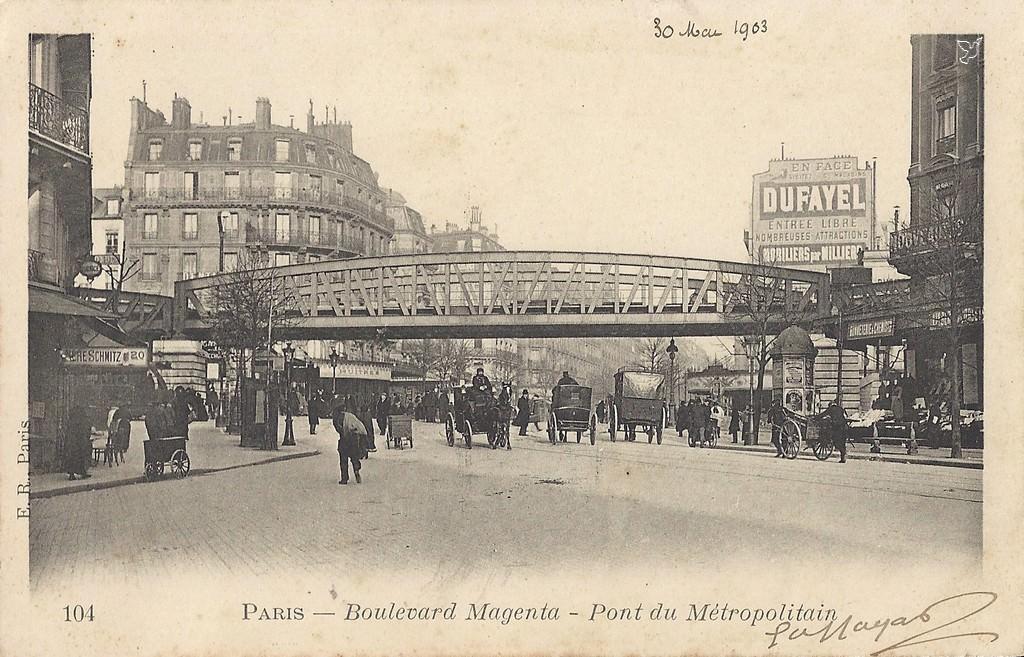 paris boulevard magenta paris xe arr cartes postales anciennes sur cparama. Black Bedroom Furniture Sets. Home Design Ideas