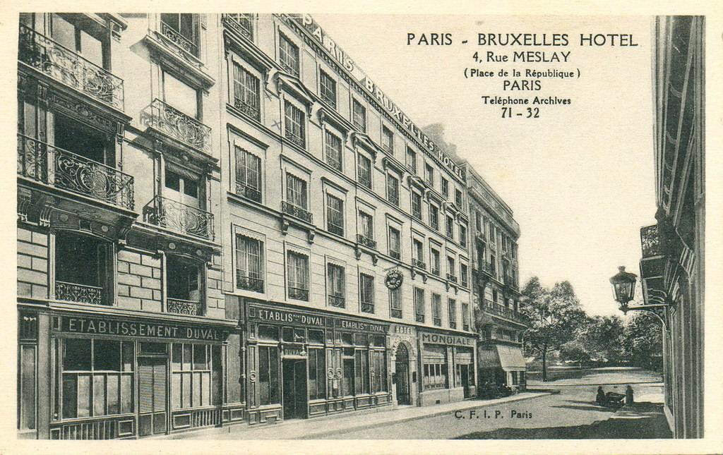 paris rue meslay paris iiie arr cartes postales anciennes sur cparama. Black Bedroom Furniture Sets. Home Design Ideas