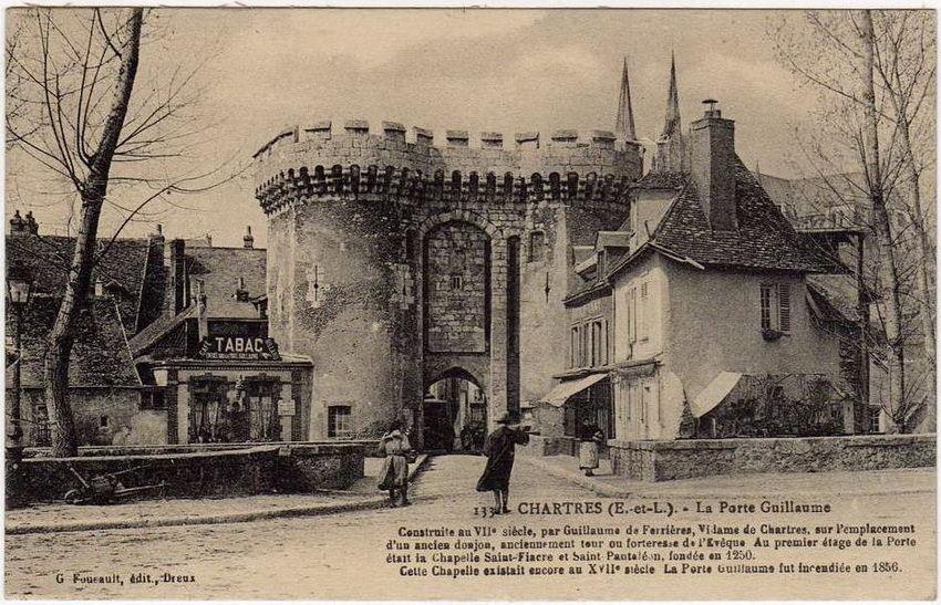 Chartres porte guillaume chartres cartes postales for Porte carte postale sur pied