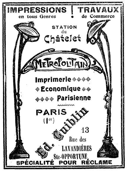 Pub et metro les petits plus du m tropolitain cartes postales anciennes sur cparama - Cherche bricoleur pour petit travaux ...