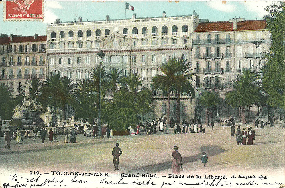 toulon place de la libert toulon cartes postales anciennes sur cparama. Black Bedroom Furniture Sets. Home Design Ideas