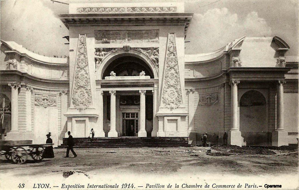 Lyon exposition internationale 1914 lyon cartes for Chambre de commerce internationale de paris
