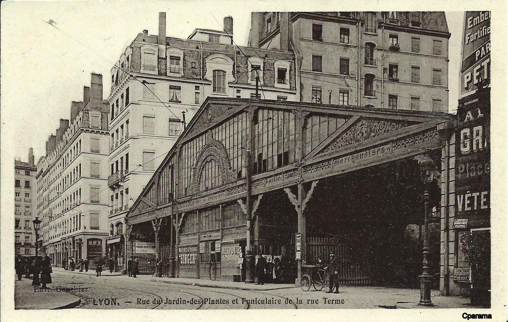 Lyon funiculaires lyon cartes postales anciennes sur cparama - Gare de lyon jardin des plantes ...