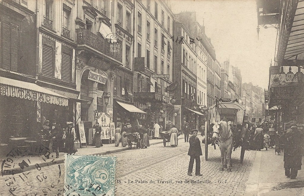 Paris Rue De Belleville Paris Xixe Arr Cartes